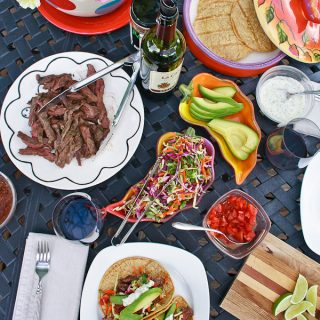 Grilled Skirt Steak Tacos and Easy Summer Party Menu