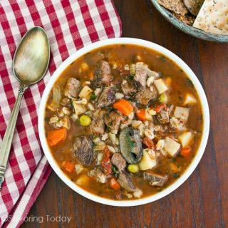 Roast Beef & Vegetable Soup: Using Pot Roast Leftovers