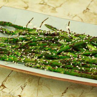 Hoisin-Sesame Asparagus