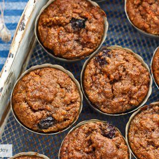 Blueberry-Carrot Cake Muffins [Grain & Gluten-Free]