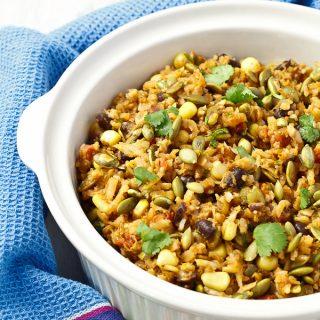 Southwest Cauliflower Rice Pilaf with Toasted Pepitas